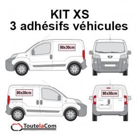KIT XS - 3 Adhésifs véhicules