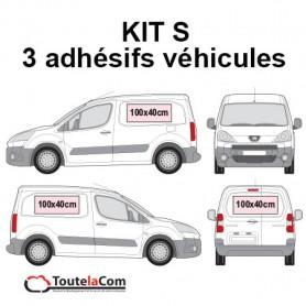 KIT S - 3 Adhésifs véhicules