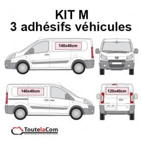 KIT M - 3 Adhésifs véhicules