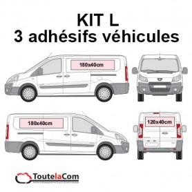 KIT L - 3 Adhésifs véhicules