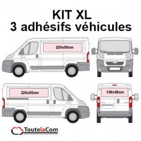 KIT XL - 3 Adhésifs véhicules