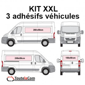 KIT XXL - 3 Adhésifs véhicules