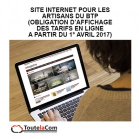 Site internet Artisans