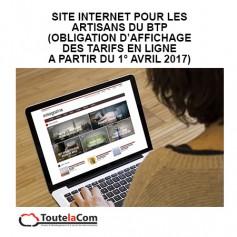 Site internet Artisans du BTP