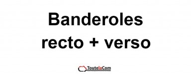Banderoles recto + verso
