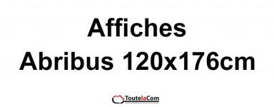 Affiches Abribus 120x176cm