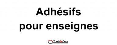 Adhésifs enseignes