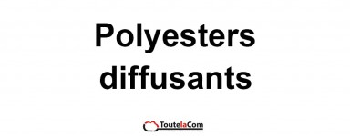 Films polyesters diffusant