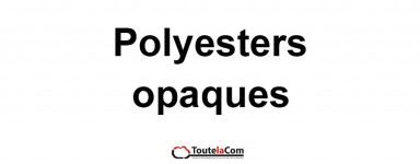 Films polyesters opaques