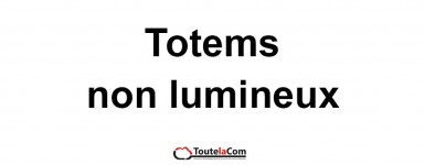 Totems non lumineux