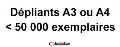 Dépliants 50 000 ex Maxi