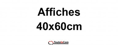 Affiches 40x60cm