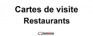 Modèles Restaurants