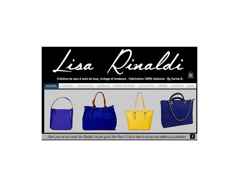 Création d'un site vitrine pour Karine B., une créatrice de sacs de luxe